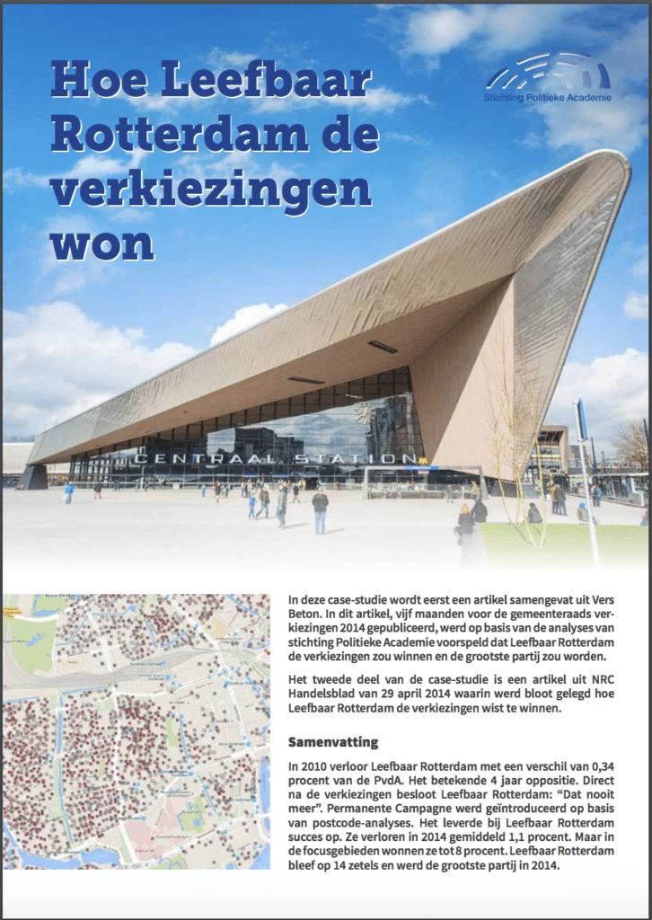 Politieke Academie verkiezingen winnen Leefbaar Rotterdam